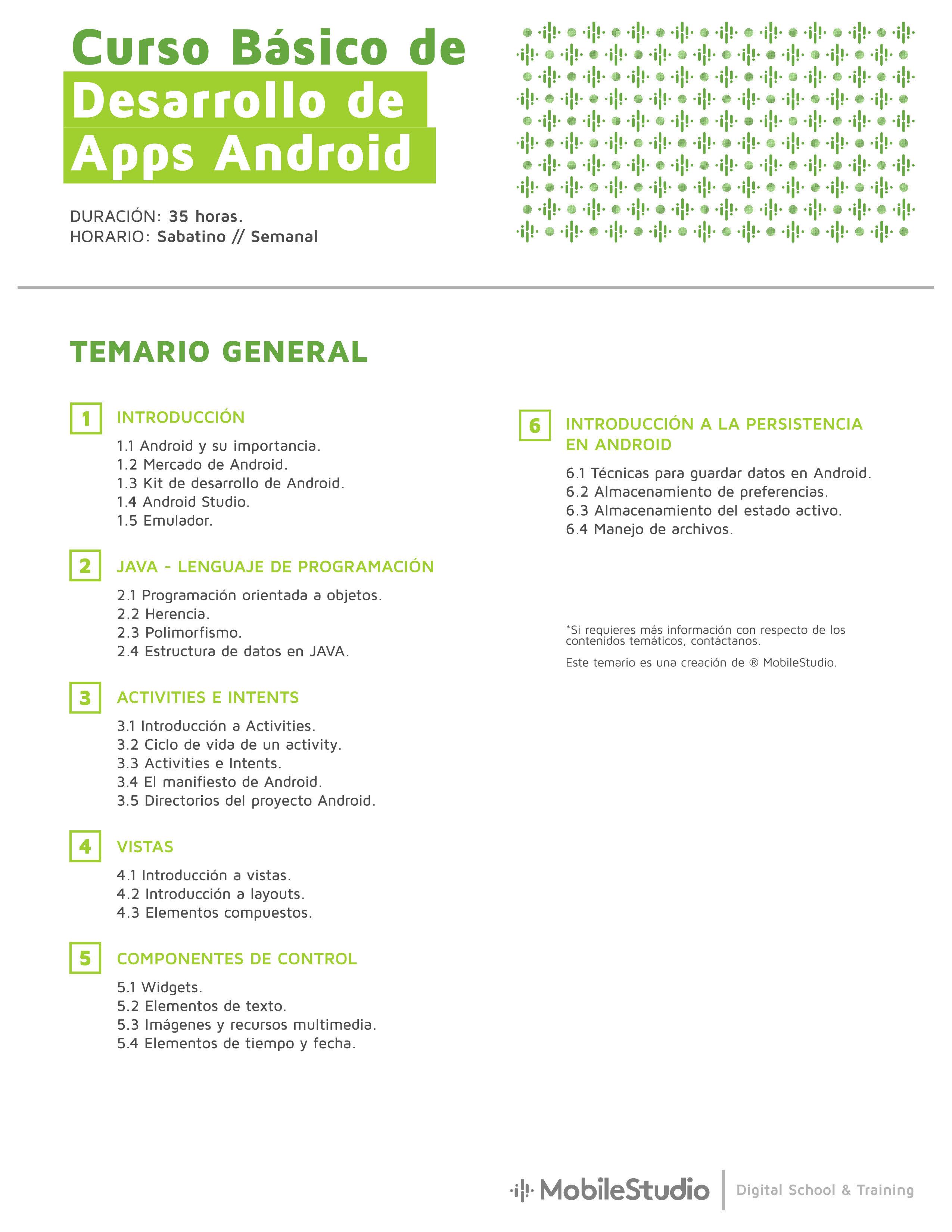 Curso Android básico temario